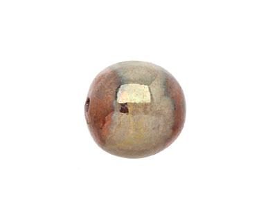 XAZ Raku Gold Luster Jumbo Round 13-14mm
