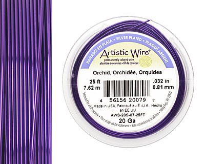 Artistic Wire Silver Plated Orchid 20 gauge, 25 feet