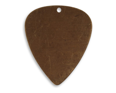 Vintaj Natural Brass Guitar Pick Altered Blank 26x31mm