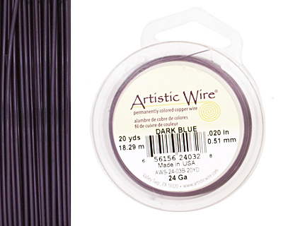 Artistic Wire Dark Blue 24 gauge, 20 yards
