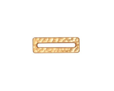 TierraCast Gold (plated) Hammered Rectangle Link 18x6mm
