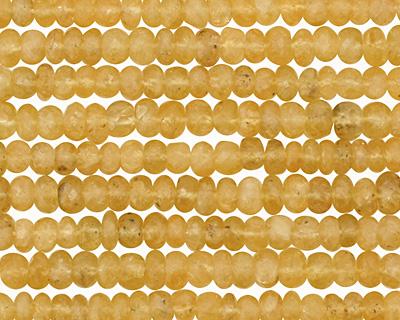 Yellow Aquamarine Faceted Rondelle 4-5mm