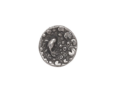 Green Girl Pewter Goldfish in a Pond Button 16mm