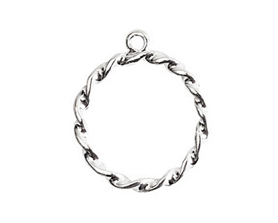 Nunn Design Sterling Silver (plated) Rope Connector 23x27mm
