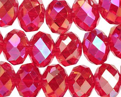 Garnet AB Crystal Faceted Rondelle 14mm