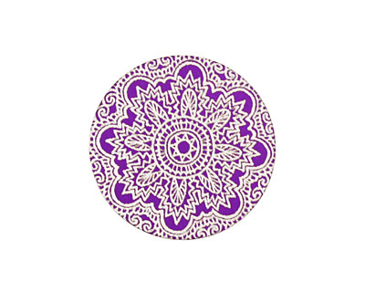 Lillypilly Purple Lace Anodized Aluminum Disc 25mm, 24 gauge