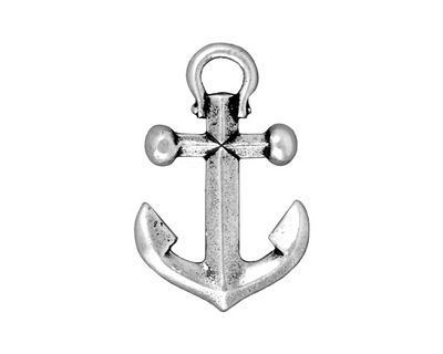 TierraCast Antique Silver (plated) Anchor Pendant 18x28mm