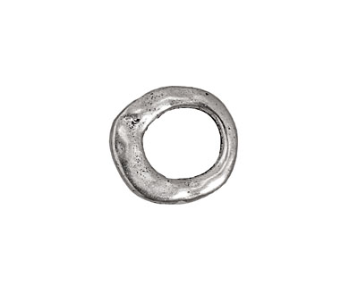 Pewter Open Oval 16x17-18mm