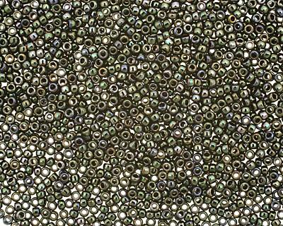 TOHO Metallic Moss Round 15/0 Seed Bead