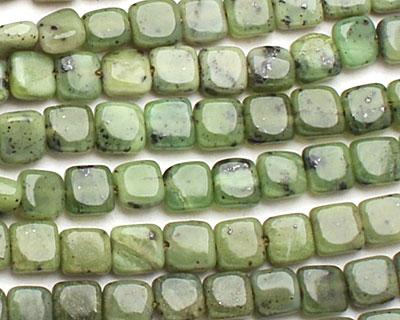 Canadian Jade Irregular Puff Square 5-6mm
