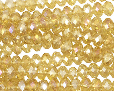 Honey AB Crystal Faceted Rondelle 6mm