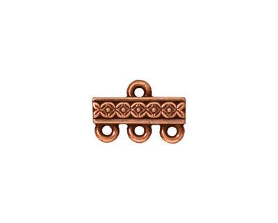 TierraCast Antique Copper (plated) Deco Rose 3-1 Link 15x10mm