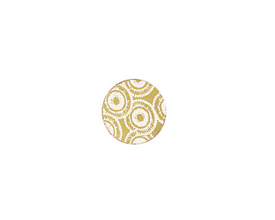 Lillypilly Gold Dandelion Anodized Aluminum Disc 11mm, 22 gauge