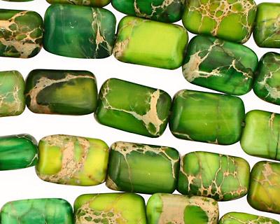 Green Impression Jasper Thin Pillow 12x8mm