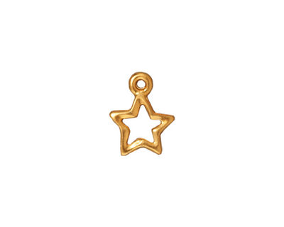 TierraCast Gold (plated) Open Star Charm 11x13mm