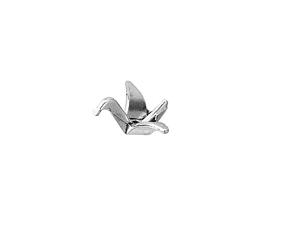 Silver (plated) Origami Swan 16x11mm