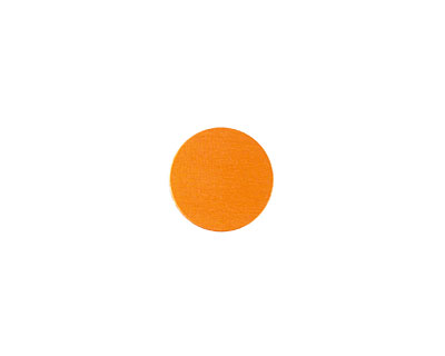 Lillypilly Orange Anodized Aluminum Disc 11mm, 24 gauge