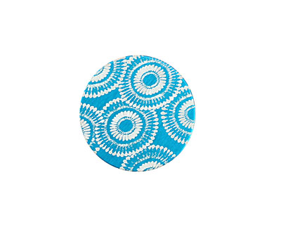 Lillypilly Turquoise Dandelion Anodized Aluminum Disc 19mm, 24 gauge