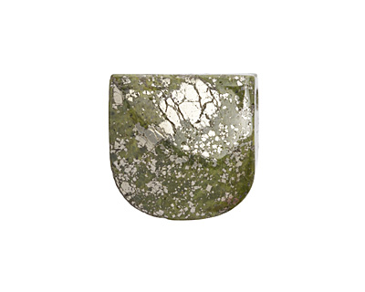 Chalcopyrite Banner Pendant (large hole) 30x30mm