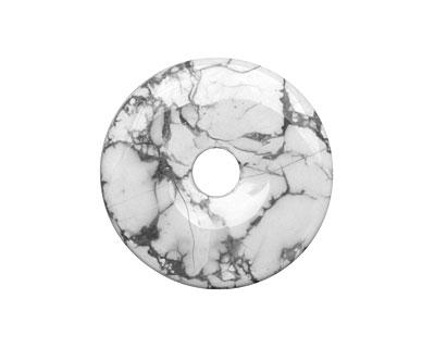 White Howlite Donut 40mm