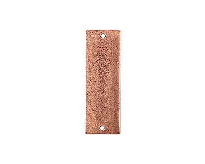 Nunn Design Antique Copper (plated) Flat Grande Thin Tag Link 37x13mm