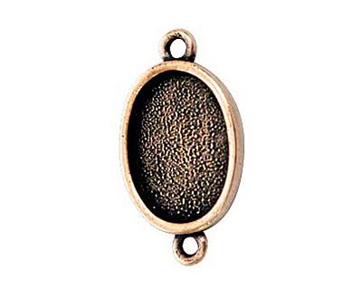 Nunn Design Antique Copper (plated) Mini Oval Frame Link 22x12mm