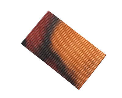 Lillypilly Rojo Y Negro Corrugated Patina Copper Sheet 3