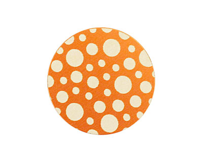 Lillypilly Orange Scattered Dots Anodized Aluminum Disc 25mm, 24 gauge