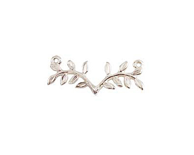 Nunn Design Sterling Silver (plated) Fern Connector 33x14mm