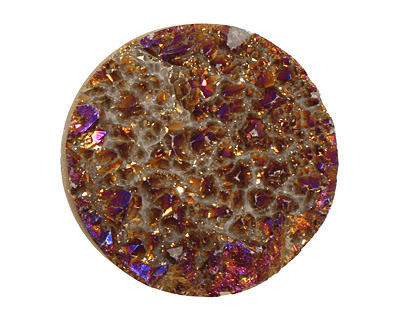 Druzy (metallic purple) Round Cabochon 30mm