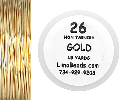 Parawire Non-Tarnish Gold 26 Gauge, 15 Yards