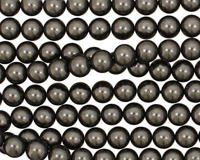 Charcoal Shell Pearl Round 6mm