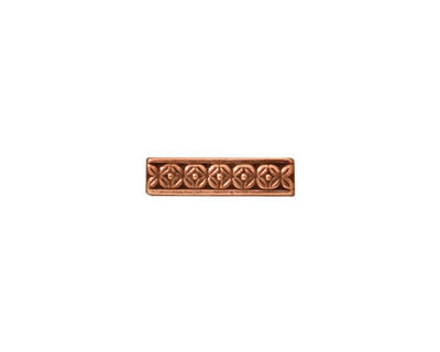 TierraCast Antique Copper (plated) Deco Rose 3-Hole Bar 4x15mm