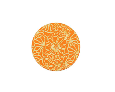 Lillypilly Orange Weathered Daisy Anodized Aluminum Disc 19mm, 24 gauge