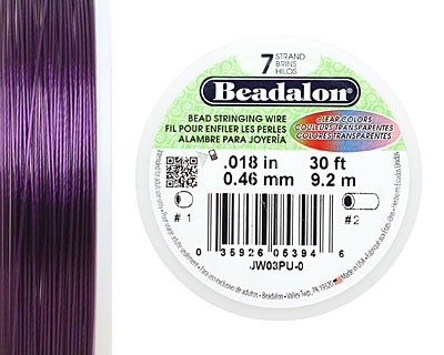 Beadalon Purple .018