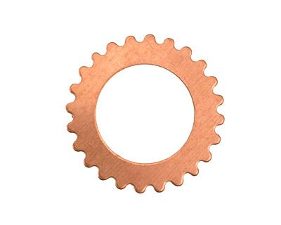 Copper Large Open Gear 25mm
