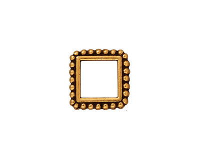 TierraCast Antique Gold (plated) 8mm Square Bead Frame 14mm