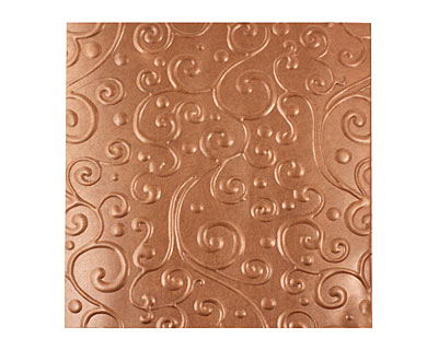 Lillypilly Antique Scrolling Vine Embossed Patina Copper Sheet 3