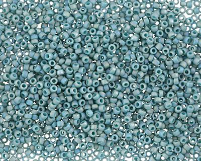 TOHO Semi Glazed Rainbow Turquoise Round 15/0 Seed Bead