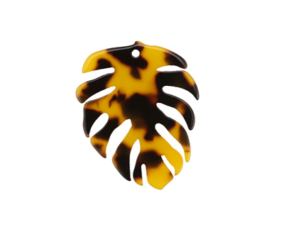 Zola Elements Tortoise Shell Acetate Monstera Leaf Focal 31x38mm