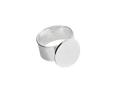 Nunn Design Sterling Silver (plated) Large Circle Adjustable Ring 16mm