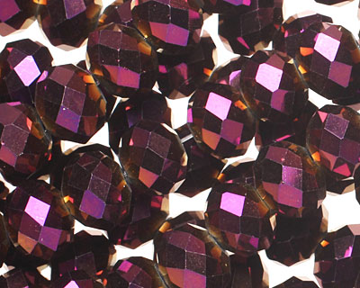 Metallic Gold Raspberry Crystal Faceted Rondelle 10mm