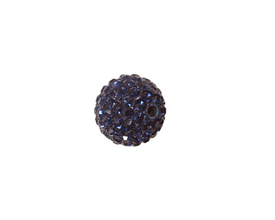 Montana Blue Pave Round 12mm (1.5mm hole)