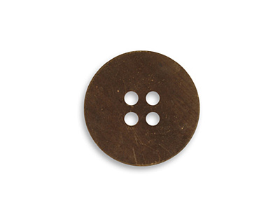 Vintaj Natural Brass Button Altered Blank 19mm
