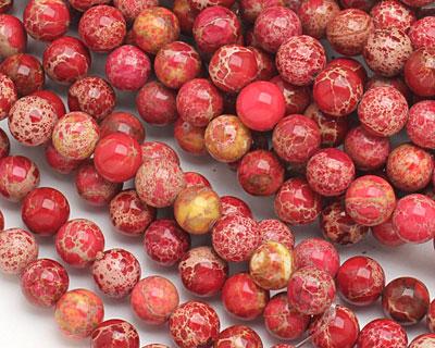 Red Impression Jasper Round 8mm