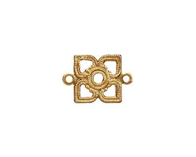 Brass Tiny Openwork Diamond Link 17x12mm