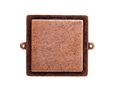 Nunn Design Antique Copper (plated) Raised Tag Grande Square Link 46x38mm