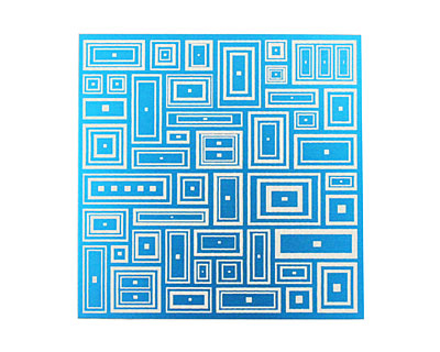 Lillypilly Turquoise Deco Rectangle Anodized Aluminum Sheet 3
