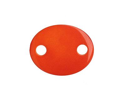 Tagua Nut Orange Oval Link 24x19mm