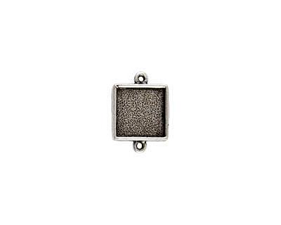Nunn Design Antique Silver (plated) Mini Square Frame Link 21x15mm